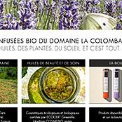 Site Internet pour DOMAINE LA COLOMBARIE